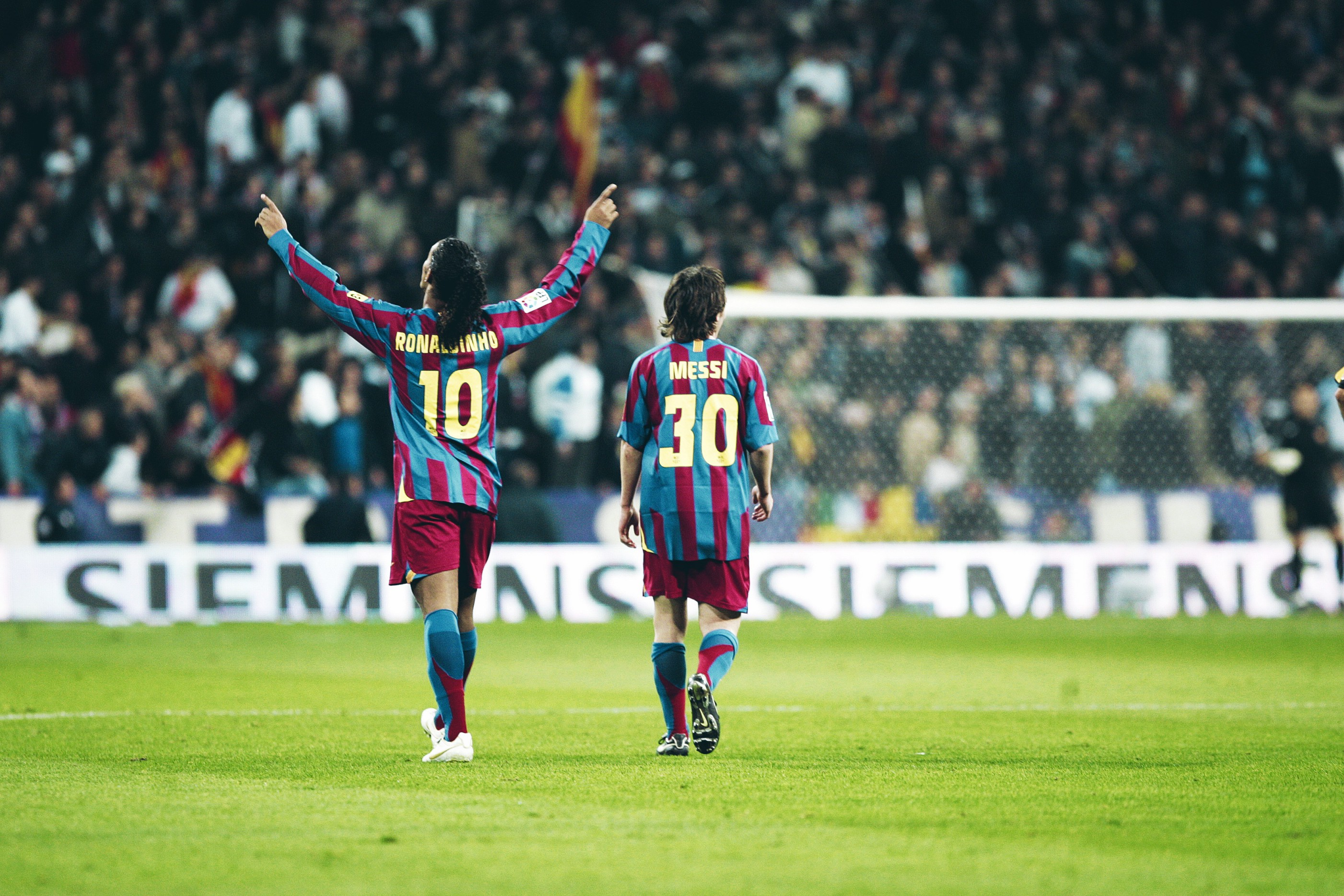 Image result for Ronaldinho with messi