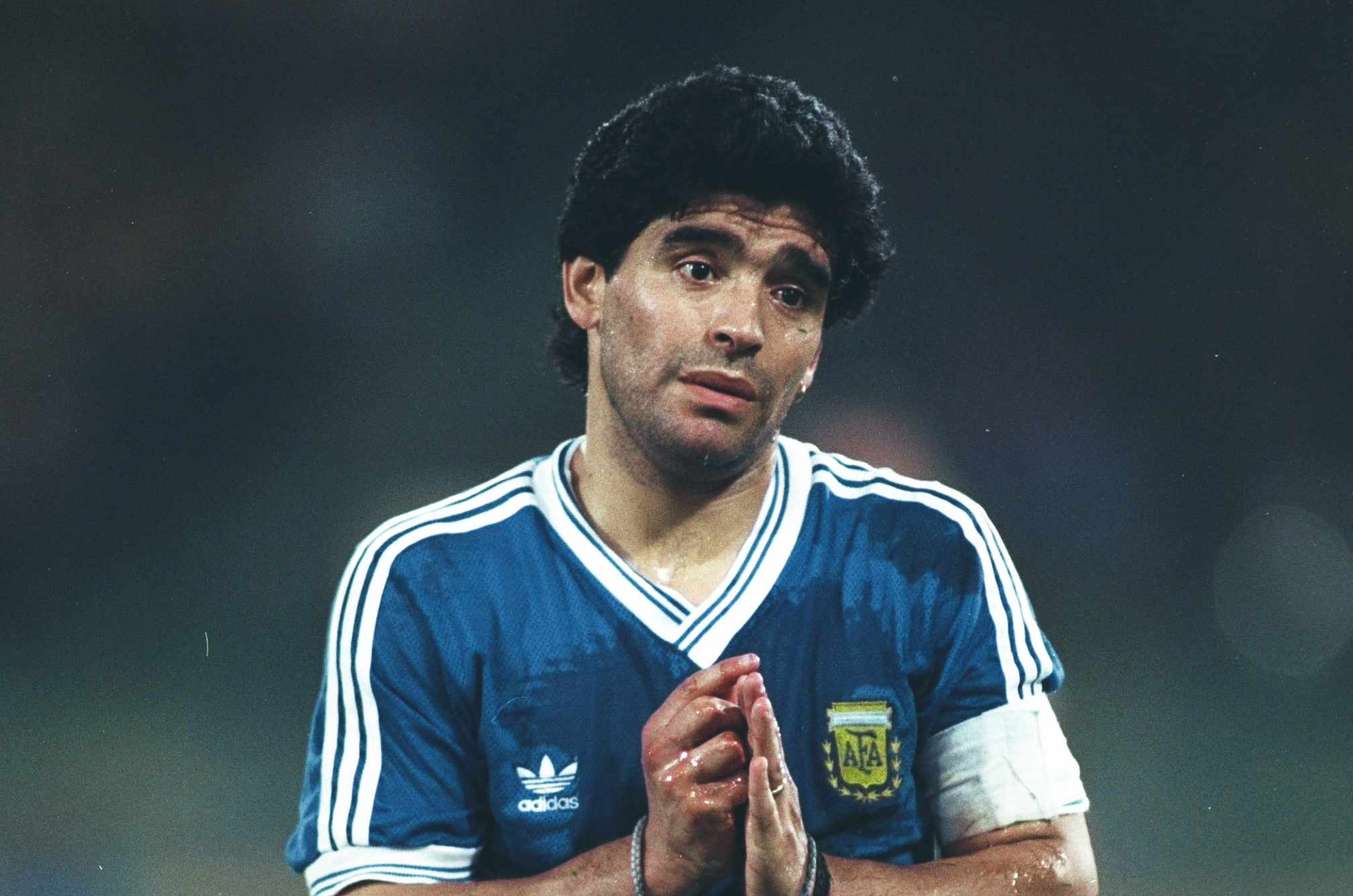 diego maradona at world cup 1990 the weeping